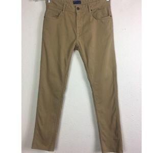 Zara Man ZMDC Goods 32 Khaki Stretch Skinny Jeans